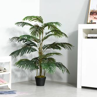 Outsunny Artificial Palm Plant Tree Potted