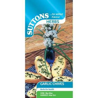 Suttons Garlic Chives Herb Seeds