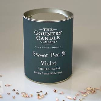 Sweet Pea & Violet Glass Jar Candle