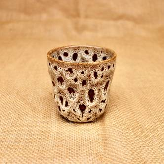 Small Leopard Patterned Glazed Ceramic Indoor Planter (D6 x H6.5cm)