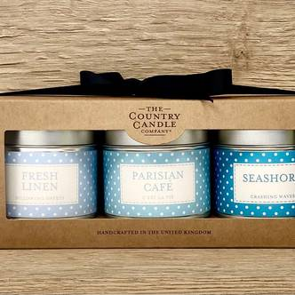 Blue Polka 3 Tin Gift Set - Polkadot