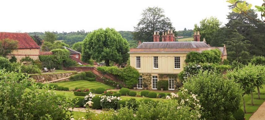 A small house in a garden