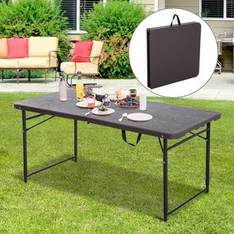 Outsunny 4FT Portable Metal Picnic Table