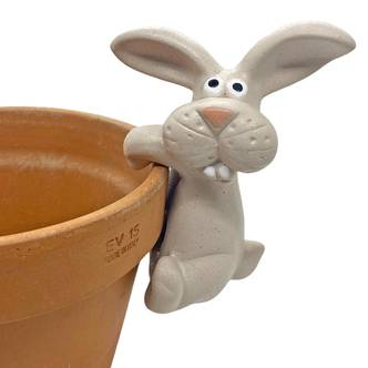 Pot Hanging Rabbit Garden Animal Ornament Decorative Pot Rim Ornaments