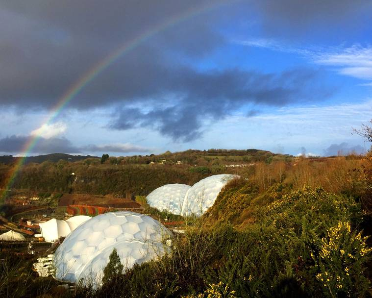 Rainbow at Eden Project