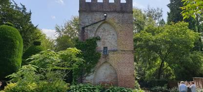 Sheep Stealers tower at Tatton Park garden
