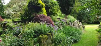 A rockery at Adlington Hall and Gardens