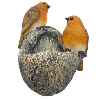 Robin Garden Bird Feeder Tree or Post Fitting Design Outdoor Feeder for Birds