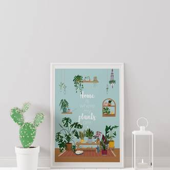 Houseplant Print, A3 Size, Wall Decor, House Plant Poster