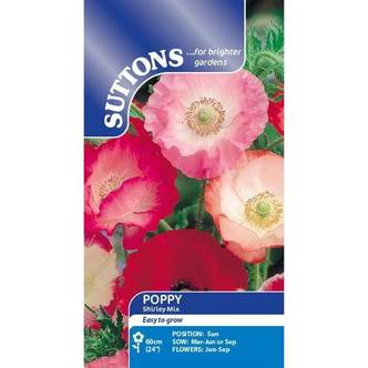 Suttons Poppy Seeds Shirley Mix