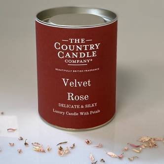 Velvet Rose Glass Jar Candle