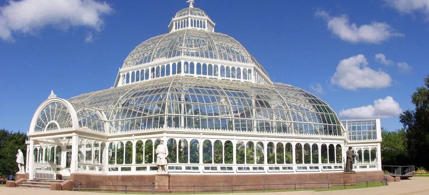 A giant glass house.