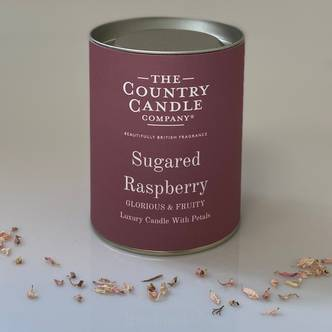 Sugared Raspberry Glass Jar Candle