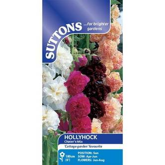 Suttons Hollyhock Seeds  Chater's Mix
