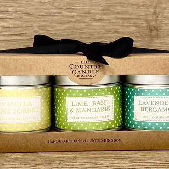 Green Polka 3 Tin Gift Set - Polkadot