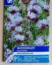 Suttons Woodruff Seeds Blue Shades