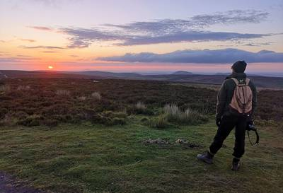 A National Trust volunteer on the Shropshire Hills