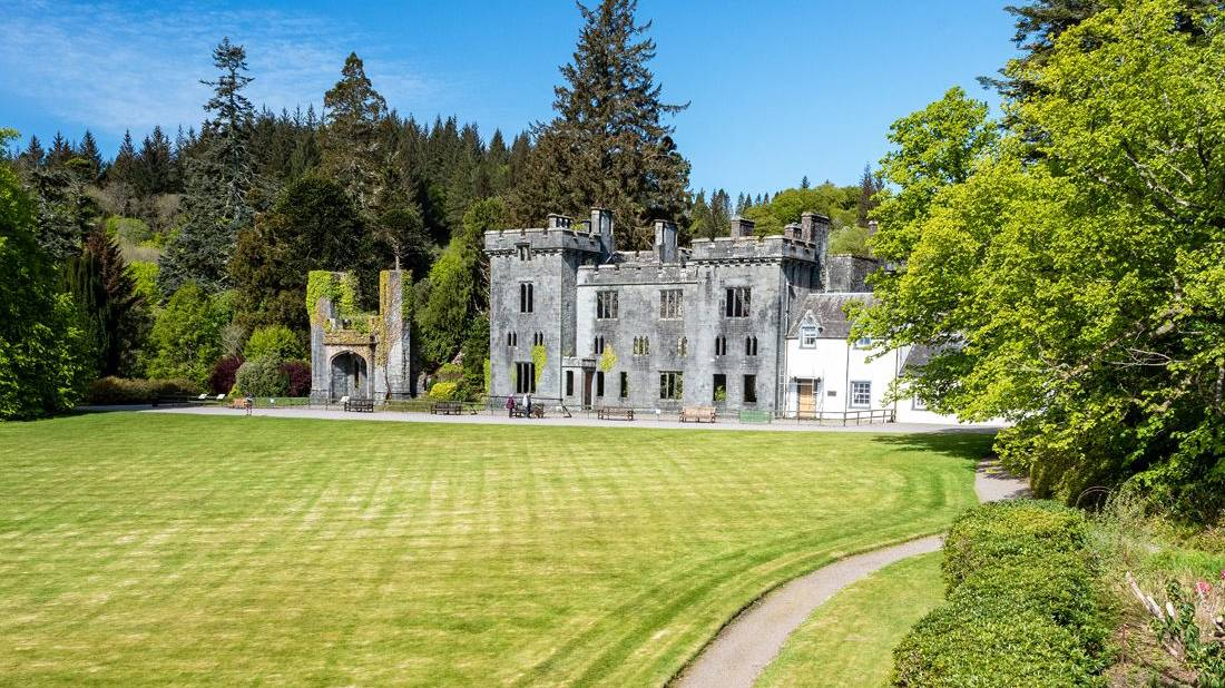 Armadale Castle with green lawn