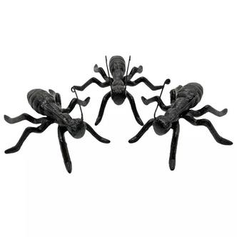 3 Cast Iron Ant Garden Animal Ornament Outdoor Insect Decoration