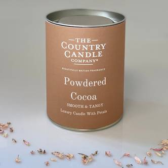 Powdered Cocoa Glass Jar Candle