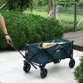 Outsunny Collapsible Folding Garden Trolley