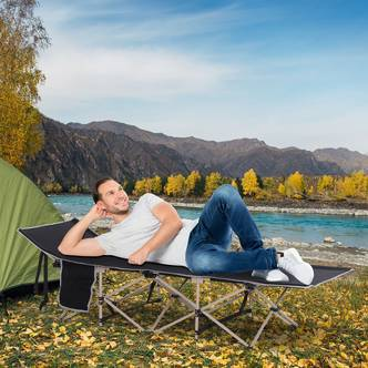 Outsunny Folding Single Camping Bed
