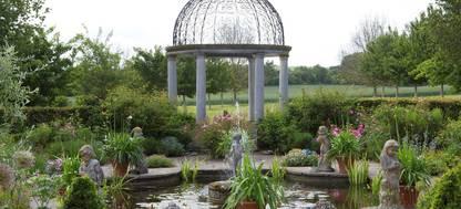 The gazebo and formal pond