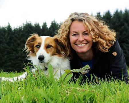 Kate Humble with her pet dog