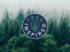 Candide's Tree Inspired Campaign 2020 logo over a misty forest