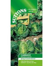 Suttons Cabbage Seeds Wheelers Imperial