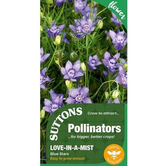 Suttons Pollinators Seeds Love In A Mist Blue Stars