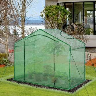Outsunny Walk-In Greenhouse Outdoor Garden Plant Shelter