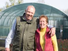 Rob and Rosy Hardy at their Nursery, Hardy's Cottage Garden Plants