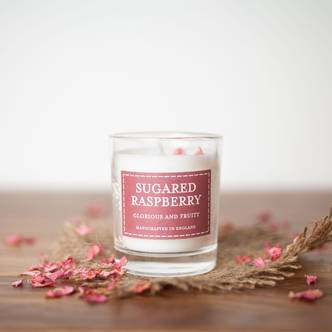 Sugared Raspberry Pastels Votive Candle