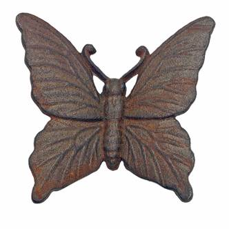 Wall Mountable Cast Iron Butterfly Garden Ornament