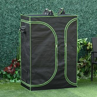 Outsunny Mylar Hydroponic Grow Tent with Vents