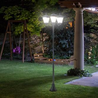 Outsunny 3-Solar Powered Lamp Post
