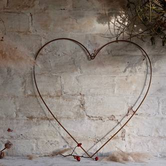 Large Hanging Metal Heart and Star