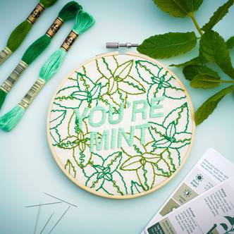 You're Mint, Mint Herb, Modern Embroidery Kit!