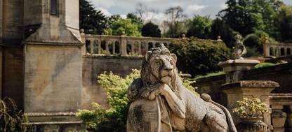 A stone lion