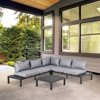 Outsunny 4 Pieces L-shape Garden Sofa Set